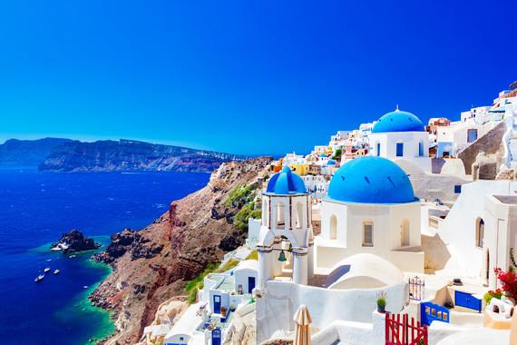 【私家团】希腊浪漫双岛8日游【2-6人独立成团/圣托里尼2晚悬崖酒店/米克诺斯】
