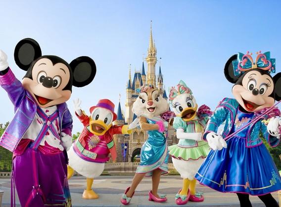 【梦幻迪士尼】日本东京迪士尼4晚5天半自助【含接送机·赠送迪士尼纸质实体一日门票】